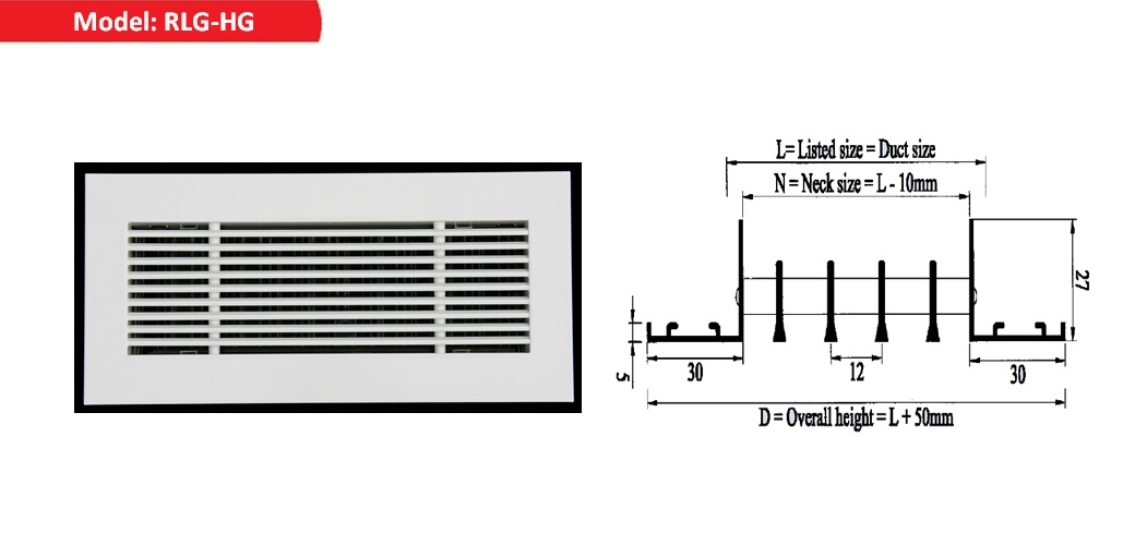 Return air Linear Bar Grilles