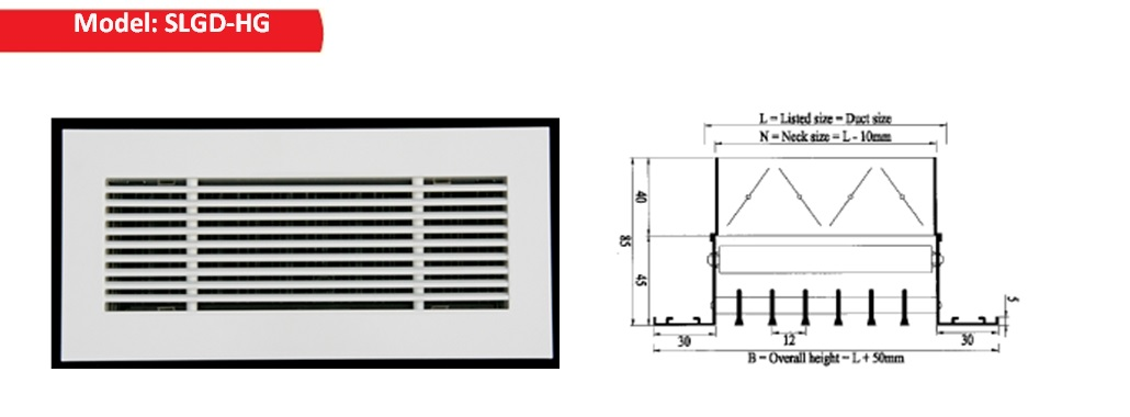 Supply air Linear Bar Grilles